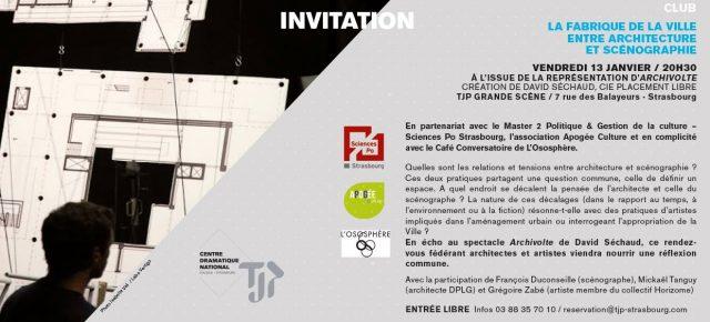 CLUB - La Fabrique de la ville, entre architectes et scénographes / Partenariat TJP